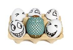 Easter egg among ordinary Royalty Free Stock Image