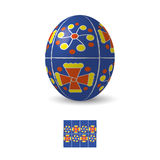 Easter egg with ornament Stock Image
