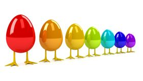 Easter Egg over white background Stock Photography