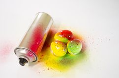 Easter egg paint aerosol Stock Photography