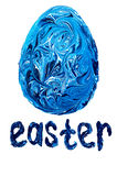 Easter egg painted blue colors Stock Images