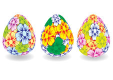 Easter egg painted colors. Vector. Stock Image