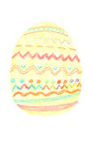 Easter egg painted by crayons Royalty Free Stock Images
