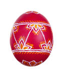 Easter egg painted in folk style. Isolated Stock Image