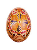 Easter egg painted in folk style. Isolated Stock Photography