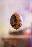 Easter egg painted in folk style Stock Photo