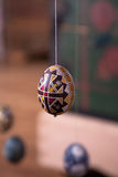 Easter egg painted in folk style Royalty Free Stock Images