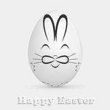 Easter egg with painted rabbit Royalty Free Stock Photography