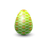 Easter egg painted with spring pattern vector illustration. Royalty Free Stock Photography