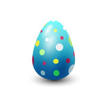 Easter egg painted with spring pattern vector illustration. Stock Photos