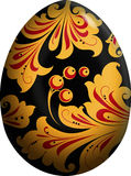Easter egg. Painted in the style khokhloma. Vector illustration Royalty Free Stock Images