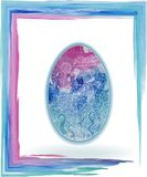Easter egg blue night watercolor Royalty Free Stock Photos