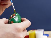 Easter egg painting Royalty Free Stock Photos