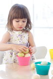Easter Egg Painting Royalty Free Stock Photography