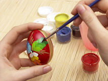 Easter egg painting stock image