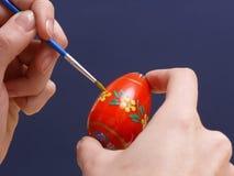easter egg painting Στοκ εικόνες με δικαίωμα ελεύθερης χρήσης