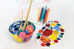 Easter egg painting royalty free stock image