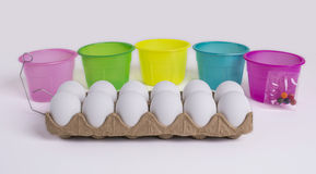 Easter Egg Painting Set Stock Images