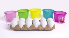 Easter Egg Painting Set Royalty Free Stock Photos
