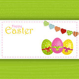 Easter egg panel background and message Stock Photo