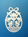 Easter egg. Paper cutting. Stock Photography