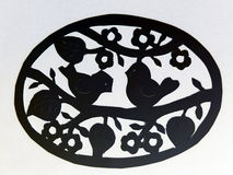 Easter egg. Paper cutting. Royalty Free Stock Photography