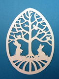 Easter egg. Paper cutting. Royalty Free Stock Photos