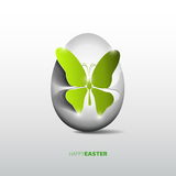Easter egg with papercut butterfly,  Royalty Free Stock Image