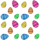 Easter egg pattern Royalty Free Stock Photos