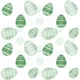 Easter egg pattern Stock Photography