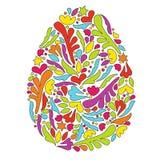 Easter egg with a pattern. Egg symbol. stock illustration