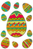 Easter egg pattern Stock Image
