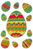 Easter egg pattern Stock Image