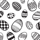 Easter egg pattern vector Royalty Free Stock Photos
