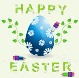 Easter egg and pencil vector Royalty Free Stock Image