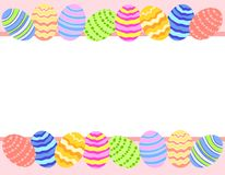 Easter Egg Photo Background Border vector illustration