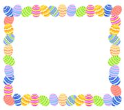 Easter Egg Photo Frame Or Border Stock Photo
