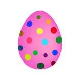 Easter egg. Pink easter egg with circles vector illustration
