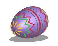 Easter Egg Purple Pattern Royalty Free Stock Photography