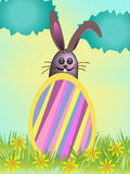 Easter egg and rabbit Royalty Free Stock Images