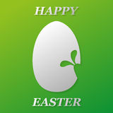 Easter egg with a rabbit on a green background Royalty Free Stock Photography
