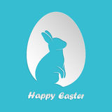 Easter egg with rabbit inside Stock Photo