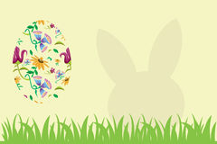 Easter Egg and rabbit silhouette Stock Images