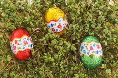 Easter egg ready to be found Royalty Free Stock Image