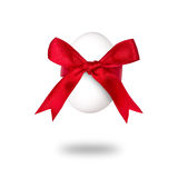 Easter egg with red bow. Royalty Free Stock Photos