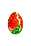 Easter egg with red flower Stock Photos