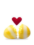 Easter egg with red heart Royalty Free Stock Photography
