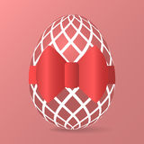 Easter egg with red ribbon Stock Photography