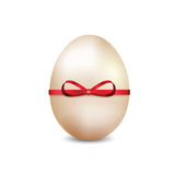 Easter egg with a red ribbon Stock Photography