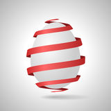Easter egg with red ribbon Royalty Free Stock Image